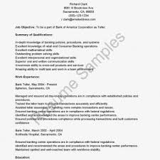 resume for bank teller gse bookbinder co