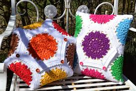 Free Cushion Crochet Patterns Atelier Marie Lucienne Hexagon And Coasters Pattern Anleitung