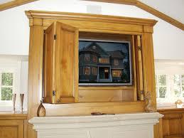 Tv Cabinet Doors Fireplace Tv Cabinet W Pocket Doors Traditional Family Room