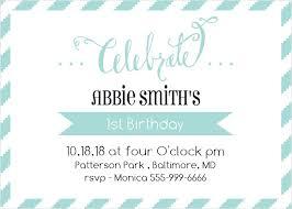 first birthday invitations 40 off super cute designs basic invite