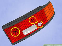 Brake Lights Wont Go Off How To Fix Car Tail Lights 7 Steps With Pictures Wikihow