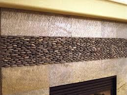 Best Fireplaces Pebble And Stone Tile Images On Pinterest - Pebble backsplash