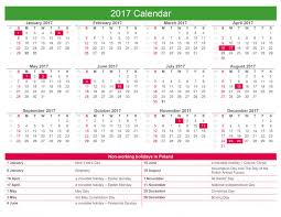2017 calendar non working holidays in poland rsm poland en