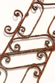 Wrought Iron Bathroom Accessories by Ornate Wrought Iron Stair Railing For Short Stair Run Olde Good