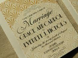 gatsby inspired art deco hollywood glam wedding invitation