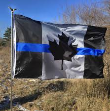 3 X 5 Flags Canada Thin Blue Line Flag 3 X 5 Foot Flag With Grommets Thin