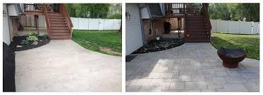 Concrete Patio With Pavers Concrete Patio Overlay With Pavers U2013 Elizabethtown Pa Tomlinson