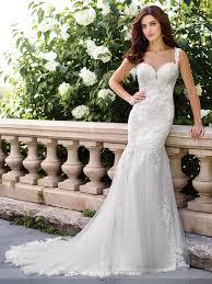 chiffon fit and flare wedding dress 117194 enchanting by mon cheri