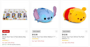 in store black friday sales at target many tsum tsum items u0027buy one get one 1 2 off u0027 during target u0027s