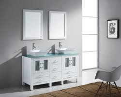 Virtu Bathroom Accessories by Virtu Usa Bradford 60 Double Bathroom Vanity Set In White