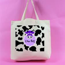 Neutral Colour Cow Bag Cow Print Large Tote Bag Neutral Colour Animal Lover