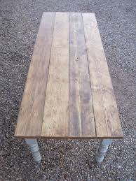 Making A Wood Plank Table Top by Best 25 Plank Table Ideas On Pinterest Diy Table Legs Kitchen