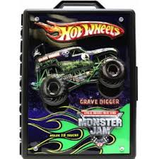 wheel monster jam trucks list amazon com wheels monster jam 15 truck storage with carrying