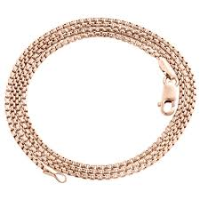 gold box chain bracelet images 10k real rose gold venetian round box chain 1 35mm unisex necklace jpg