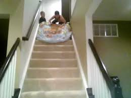 how to slide down stairs youtube