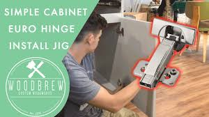 kitchen cabinet door hinge template how to easily install cabinet door hinges woodbrew