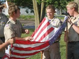 Kentucky Flags Veteran U0027s View War Veterans Aid Boy Scouts To Retire Flags In