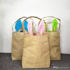 wholesale easter buckets square burlap bunny ear easter buckets wholesale blanks jute