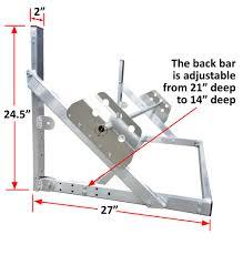 trailer garage flip up tire rack for trailer garage or workshop 4 u0027 6 u0027 or 8