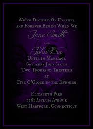 nightmare before christmas wedding invitations purple and black nightmare before christmas inspired print at home