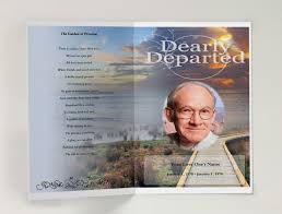 funeral program maker funeral programs online funeral program