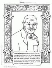 George Washington Carver Coloring Page Black History Arts Jackie Robinson Coloring Page