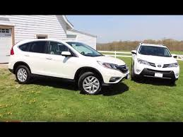 toyota rav vs honda crv 2016 toyota rav4 vs 2016 honda cr v exterior interior and drive