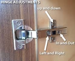 how do i adjust cabinet hinges adjust doors and drawer fronts