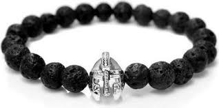 black bracelet men images Roman knight spartan warrior gladiator helmet bracelet men black jpg
