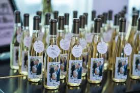 wine bottle favors wedding favors island custom wine bottle favors just 6
