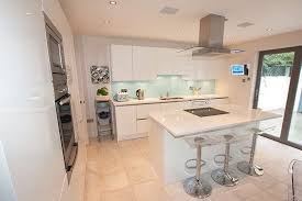 white kitchen with island impressing kitchen white high gloss island arquitectos