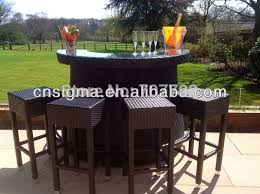 Rattan Bar Table Garden Bar Table And Stools Home Furnishings