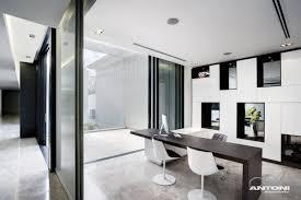 workspace ideas at u shaped house design by saota and antoni