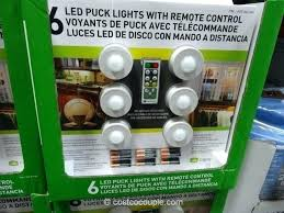 puck lights with remote under cabinet lighting costco awesome led puck lights or capstone