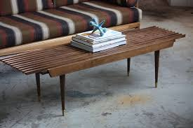 Slat Bench Appealing Mid Century Modern Expanding Slat Bench Coffee Table