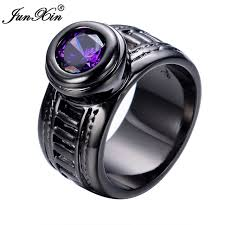 aliexpress buy junxin new arrival black junxin new fashion purple men women ring black gold filled