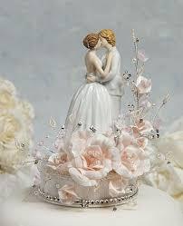 porcelain cake topper wedding cake topper with cascading base
