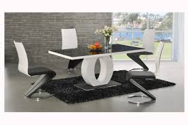 Contemporary Dining Set by Dining Room V Base Dining Table And Z Shaped Dining Chairs In