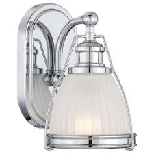 battery operated vanity lights minka lavery 1 light chrome bathroom sconce 5791 77 the home depot