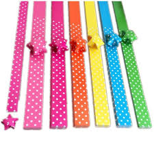 wishing paper 1 8 34cm cheap handcraft origami lucky paper colorful crepe dot