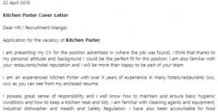 cover letter for kitchen porter cover letter clerical cover