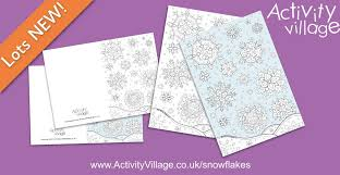 winter snowflake colouring pages cards