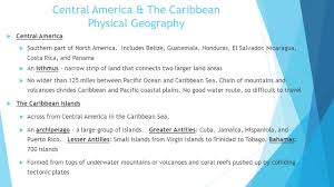 Blank Map Of Caribbean And Central America by Pre Ap Geography Chapter 7 U00268 Mexico Central America U0026 The