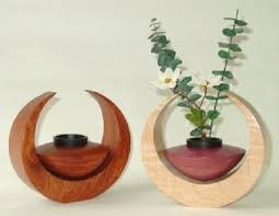 ikebana vase 6 5 diameter wooden ikebana vase br br care if water gets