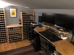 workspaces my updated home office i needed a place to store my wine