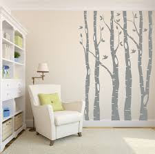 living room trees tree wall decals birch tree decals living room decor
