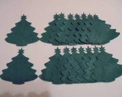 diy ornaments felt tree die cuts books pine