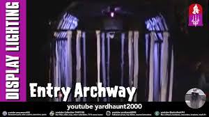 trick or treat entry archway w blacklight bolt lighting halloween