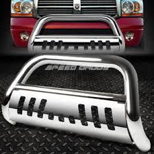 dodge ram push bumper for 94 02 dodge ram 1500 2500 3500 truck chrome bull bar push