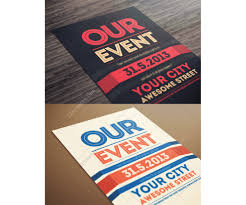 our event flyer template modern clean and minimal poster design